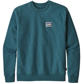 Patagonia Shop Sticker Patch Uprisal Crew Välikerros Miehet, tasmanian teal